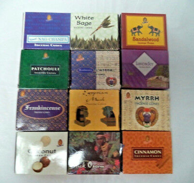 Kamini Best Seller Variety Pack Incense Cones, Mixed Lot 12 x 10 Cone 120 Total