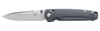 Benchmade Valet Axis Lock Pocket Knife Plain Edge M390 Steel Gray G10 Handle 485