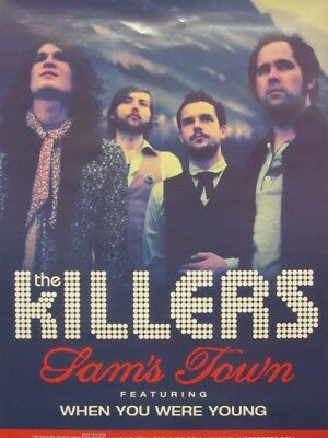 THE KILLERS 2006 SAM'S TOWN 2 SIDED promotional poster ~NEW~MINT condition~!