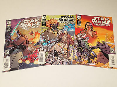 STAR WARS: Jedi Council lot of 3 issues #1-3 (of 4)  Dark Horse Comics 2000 VF