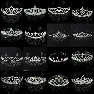 Wedding Bridal Children Kid Women Pageant Birthday Tiara Crown Princess Headband