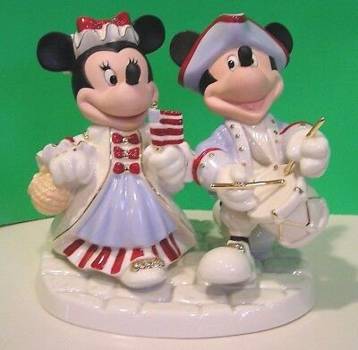 LENOX MICKEY and MINNIE UNITY CANDLE HOLDER Disney sculpture NEW in BOX with COA