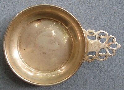 Wallace Sterling Silver Pierced Handled Porriger Bowl