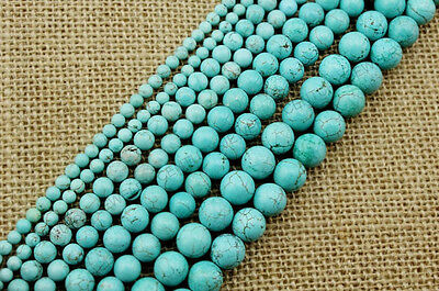 1Strand Round Turquoise Charm Spacer Beads 4MM 6MM 8MM 10MM 12MM 14MM 16MM 18MM