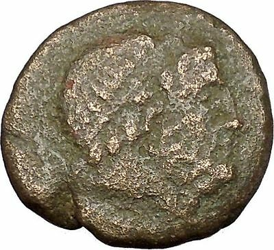 SYRACUSE in SICILY 1stCenBC under Romans  with SERAPIS & ISIS Greek Coin i51739