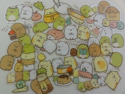 Lot 40 San-X Sumikko Gurashi flake sack stickers seal rilakkuma cute sanrio GIFT