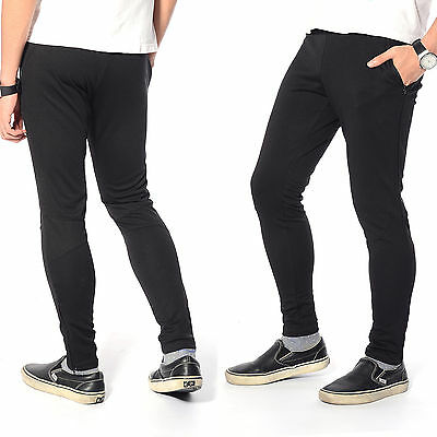 Men's Skinny Soccer Pants Training Sweat Sports Gym Athletic Pants Trousers