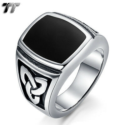 High Quality TT 316L Stainless Steel Band Ring Size 7-15  (RZ130) NEW