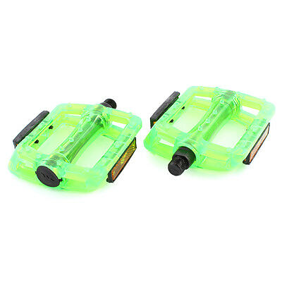 Pair 13mm Thread FIXED GEAR Bike Bicycle Platform Pedals Green
