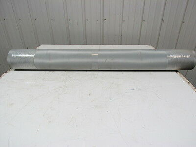 "2-Ply Green Smooth Top PVC/Rubber Conveyor Belt 52-1/4""x15' Length 0.070"" Thick"