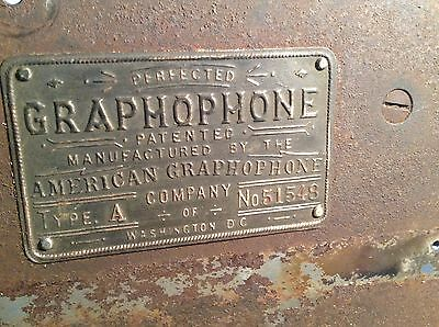 Columbia Type A Cylinder Phonograph Motor For Parts Perfected/Washington, D.C.