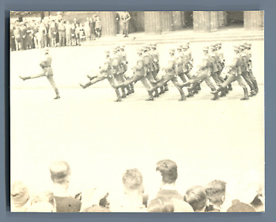 Germany, Berlin, Parade of the 3rd Reich Army (Wehrmacht) Vintage silver print.