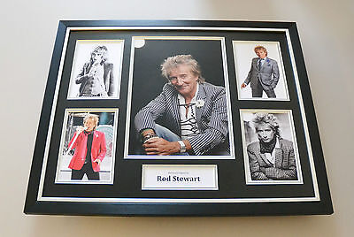 Rod Stewart Signed Photo Large Framed Music Autograph Display Memorabilia + COA