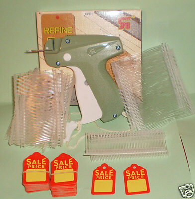 Garment Price Label Tagging Tag Tagger Gun With 1000 Pins Fastener 100 Sales Tag