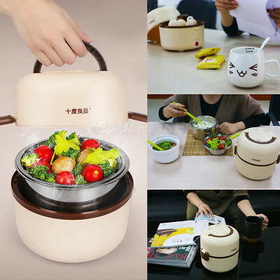 Electric Portable 1.3L Lunch Mini Rice Cooker Stainless Steel Steamer Pot #A1