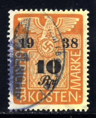 GERMAN EMPIRE-Third reich.MILITARY JUDICIARY NAZI stamp.1938.WWII.Swastika