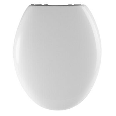 Premier Round Thermoplastic Toilet Seat, Soft Close Quick Release Hinges, White