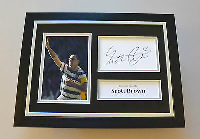 Scott Brown Signed A4 Photo Framed Genuine Celtic Autograph Display + COA