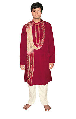 Bollywood Herrenset India Oriente Rosso in 5 Taglie disponibile