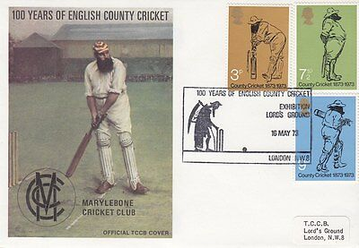 GB :1973 CRICKET-TCCB set of 18 First day Covers