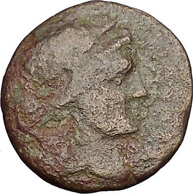 Thessalian League Larissa in Thessaly 196BC Apollo Athena Greek Coin i51825