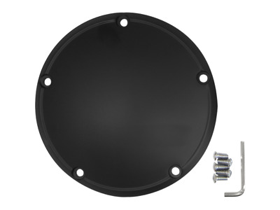 Drag Specialties Satin Black 5 Point Derby Cover 99-18 Harley Twin Cam FLH FX