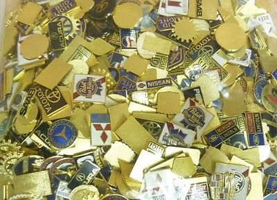 EMBLEMs LOGOs CELEBRITY GOLD PLATING INC 24k not SCRAP 5 pounds AUTO BEER 1000s