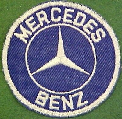 Mercedes Benz on Blue Twill Patch