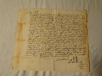 Antique 1517 Italy Italian  NICHOLAUS Signed Manuscript Document 16thC #Y104