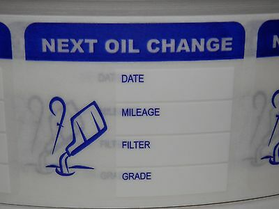 50 Next Oil Change Reminder Stickers Labels clear film with removable adhesive