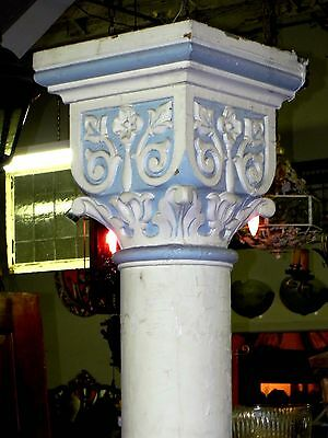 Set Of 8 Large Antique Columns With Decorative Capitals