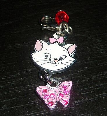 Disney Aristocats Marie Red Stone Lobster Clasp Bracelet Charm