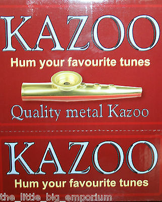 Metal Kazoo Brand New & Boxed - Musical Instrument Hum Your Favourite Tunes