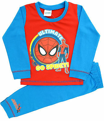 SP59 Boys Spiderman Ultimate Snuggle Fit Pyjamas Sizes 18mths to 5 Years