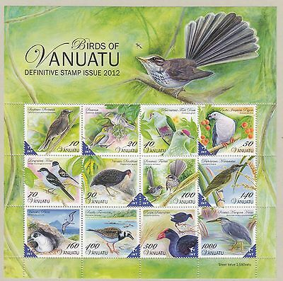 VANUATU:2012 Birds definitives in Min Sheet SGMS1130 never-hinged mint