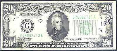 1934 A $20  Federal Reserve Note -Chicago