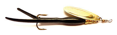 5 X 15g FLYING C LURES BLACK & GOLD BLADE SPINNERS