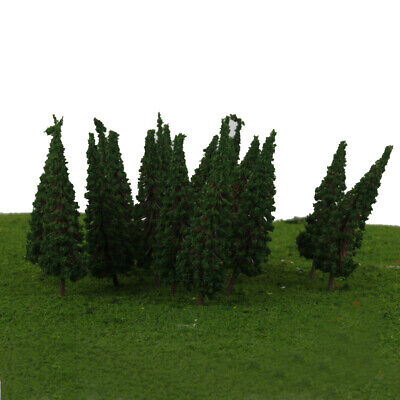 50x Dark Green Trees Model Train Railway Park Street Scenery HO Scale 6.5cm