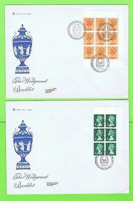 G.B. 1980 Wedgwood booklet panes on Stuart First Day Covers, Barleston