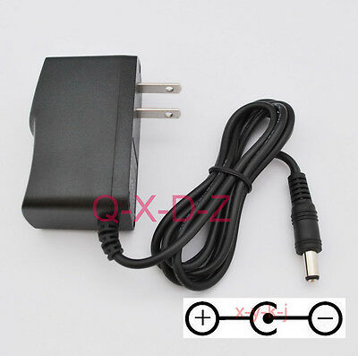 9V 1A 1000mA Switching Power Supply adapter Reverse Polarity Negative Inside US