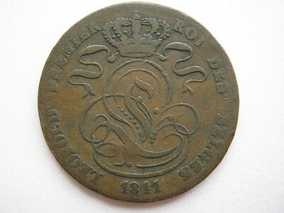 Belgium 1811 (error) copper 5 Centimes, F/Poor.