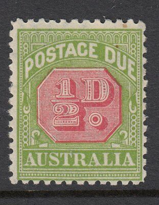 AUSTRALIA POSTAGE DUE:1934 1/2d carmine & yellow-green perf 11  SGD105 mint