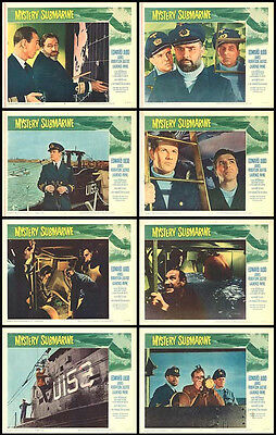 MYSTERY SUBMARINE original WW2 movie posters BRITISH NAVY 11x14 lobby card set