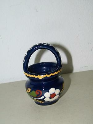 Vintage Mexican ? Pottery Basket Small F 14754