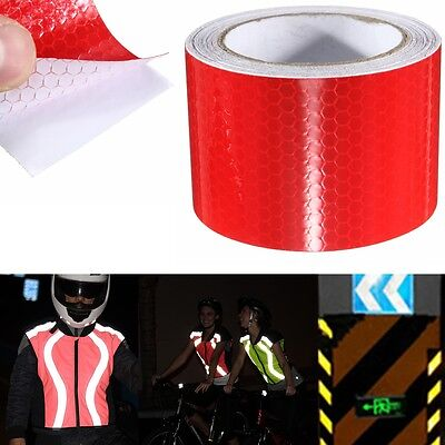 5M Red Warning Reflective Safety Tape Roll Self-Adhesive Sticker For Trucks Car