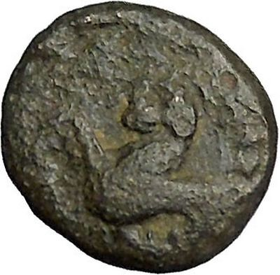 Gergis in Troas 400BC Ancient Greek Coin Sibyl Prophetess Sphinx seated i51890