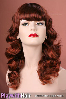 Retro 50's Goth Pinup Style Wig Copper Red Mix : Jon Renau - Pinup