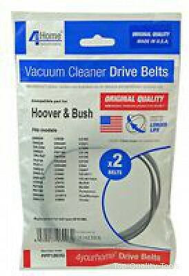 VACUUM BELTS, PACK OF 2, HOOVER Part No. PPP126OQ By 4 YOUR HOME