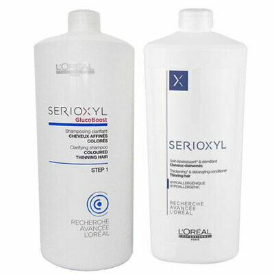 L'Oreal Serioxyl Shampoo & Conditioner Coloured Thinning Hair 1000ml Duo