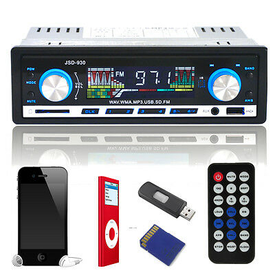 KFZ CAR AUTORADIO Radio MP3 Player FM Stereo WMA AUX EQ USB SD DIN AUTO OHNE CD